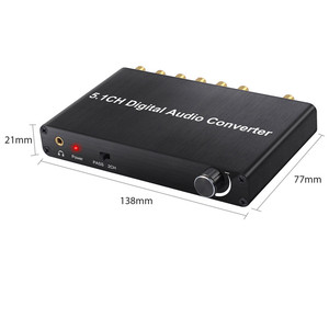 Image 5 - Décodeur Neoteck 192kHz DAC 5.1CH décodeur Audio numérique prise en charge AC 3/DTS optique Coaxial à 6 RCA 3.5mm Jack adaptateur Audio