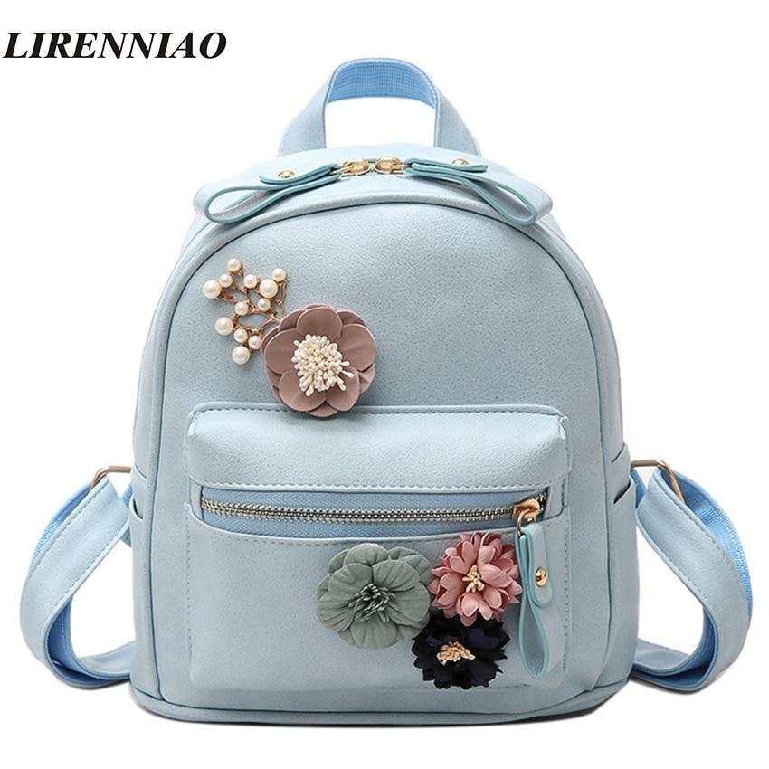 Hot Sale Flowers Backpack Fresh Style Backpacks For Teenage Girls School Bags 2017 New Floral Women