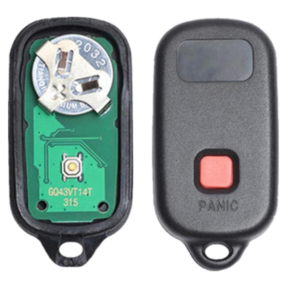 Set of 2 GQ43VT14T Key Fob fits 2002-2006 Toyota Camry // 2002-2003 Toyota Solara Keyless Entry Remote