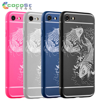 5S 5 SE COCOSE Case Silicon Back Cover For IPhone 6 6s 7 Plus Matte 3D