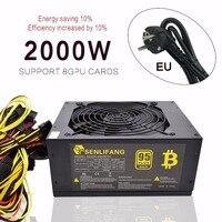 Asic bitcoin новый золотой мощность Вт 2000 Вт Плюс ETH питание ATX горные машины поддерживает 8 GPU карты Поддержка Бесплатная доставка