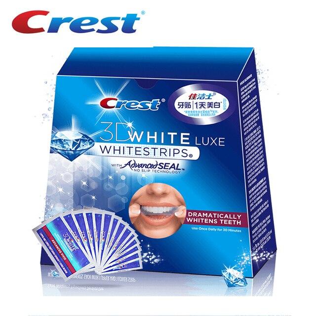 3d crest whitestrips vivid avançada luxe dentes dental branqueamento