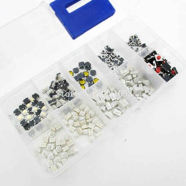 250 個 10 種類触覚プッシュボタンタッチスイッチリモートキーボタンマイクロスイッチホット販売