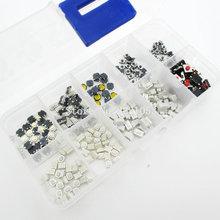 250PCS 10 가지 유형 촉각 누름 버튼 터치 스위치 원격 키 버튼 마이크로 스위치 핫 세일