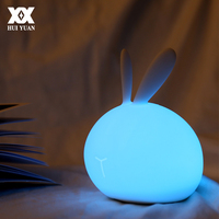 Cute Rabbit Soft Silicone Lamp USB Charge LED 7 Color Touch To Change Color Festival Decorative