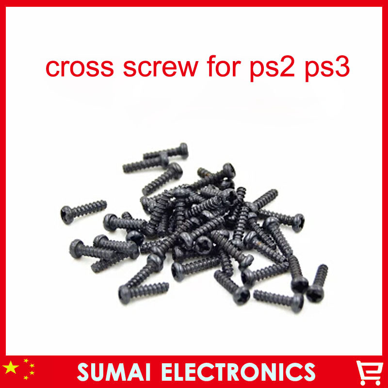 10set/lot One set include 5pcs Cross Screw Repair For PS2 PS3 Console Flat head screw