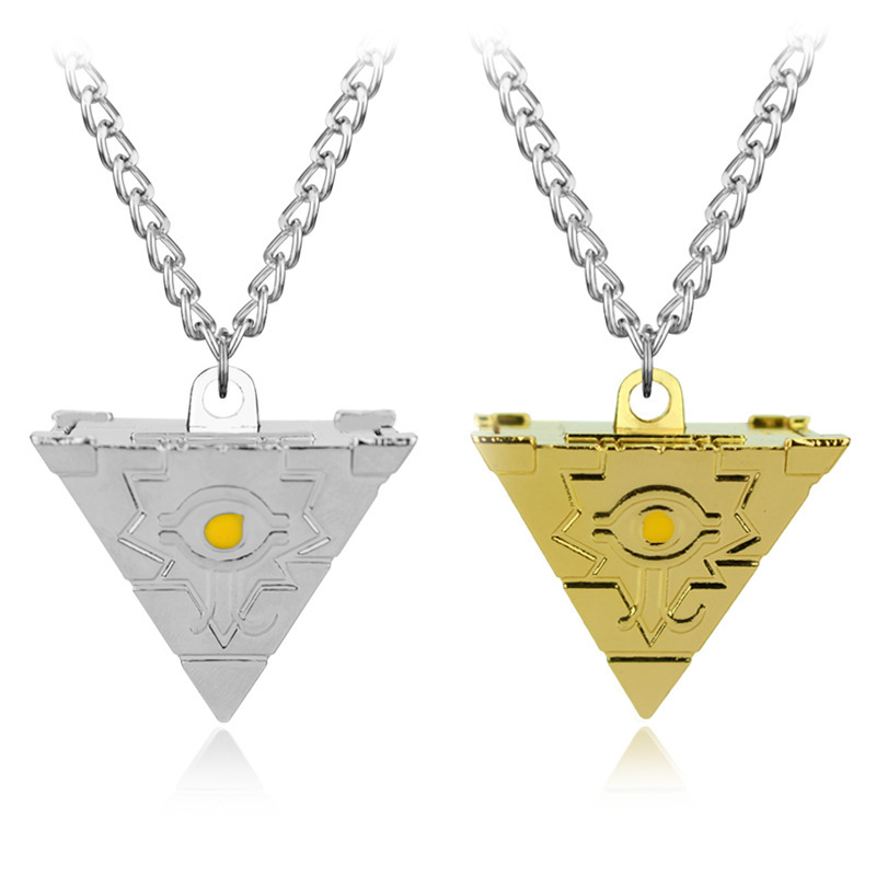 Fashion Yu-gi-oh! Millennium Puzzle Chain Necklaces Pendants Golden and Bright Silver Men & Women Jewelry