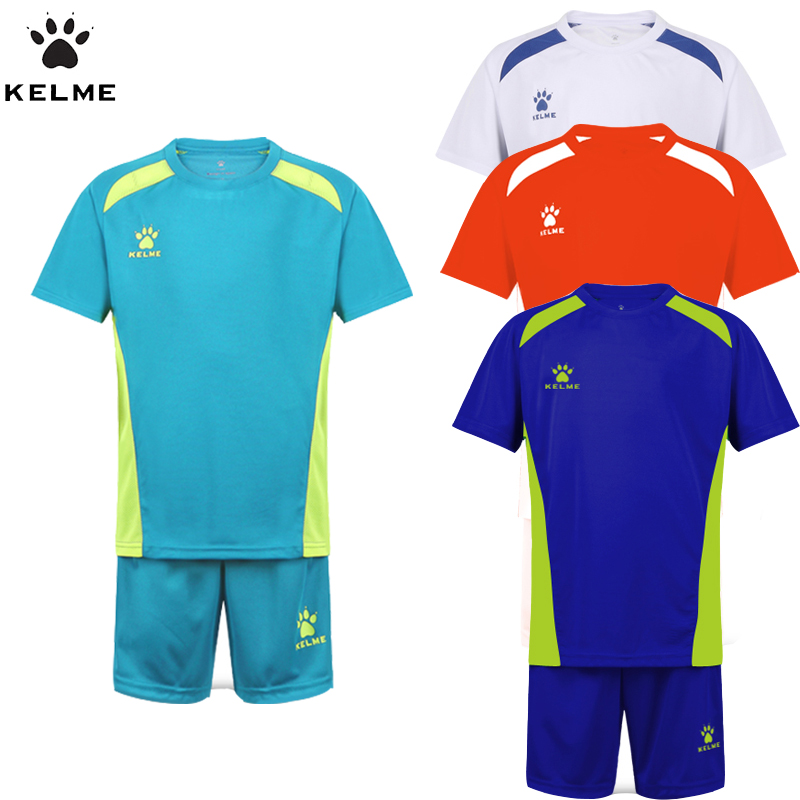 88350679c KELME Children Soccer Sets Boys Summer Football Jerseys Clothing Set 2pcs  Sportswear Suit For Kids Uniform