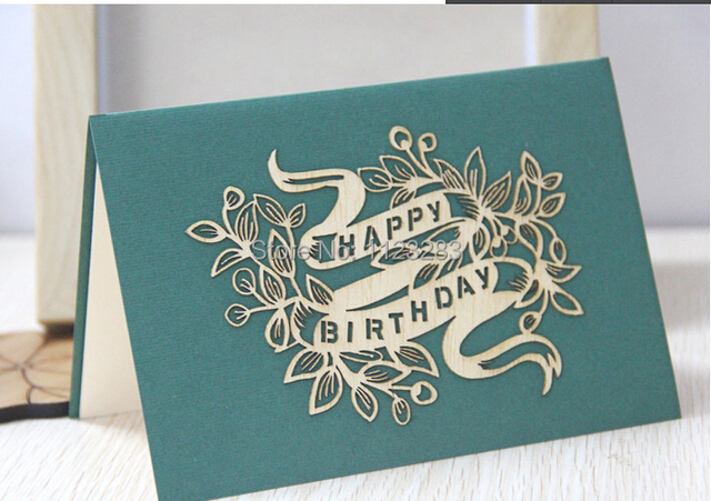 Paper card original business employees birthday wood veneer flower paper card original business employees birthday wood veneer flower three dimensional creative birthday card custom colourmoves