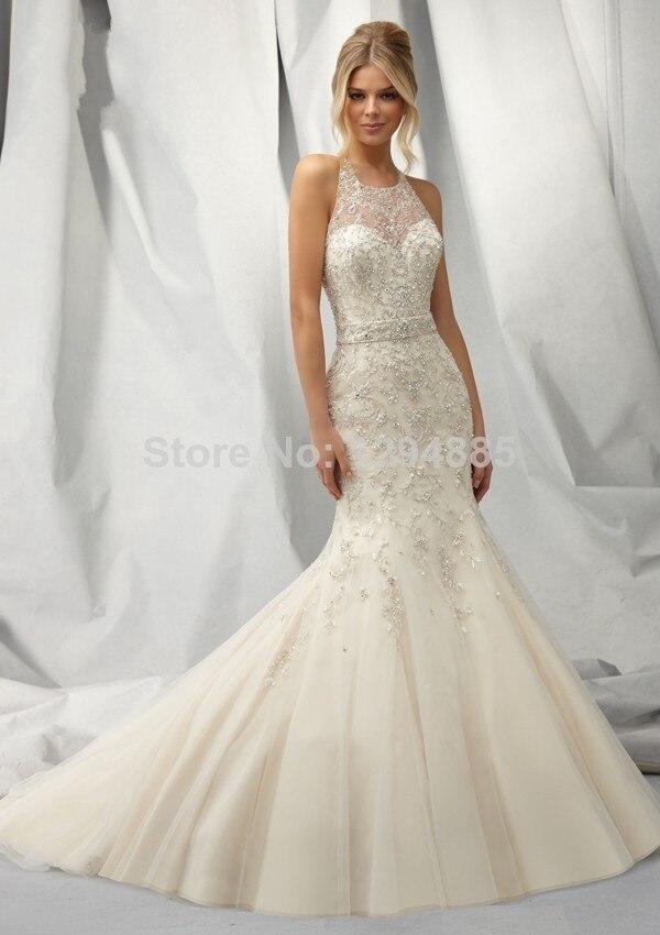 Online Shop 2015 New Arrival Modern Mermaid Sweetheart White Lace Wedding Dress TT015