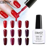 Elite99 10 ml serie de Color rojo vino esmalte de uñas Semi permanente remojo esmalte de uñas de Gel LED UV Lacuqer de esmaltes