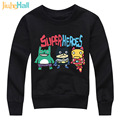 Jiuhehall 3-7Y Spring Autumn Boy Girl Tops Cartoon Superheroes Printing Kids Hoodie Cotton Long Sleeve Children Pullover HCM123