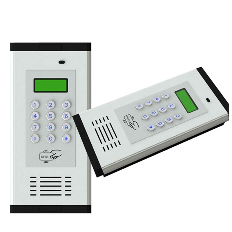 3G GSM Access Control Alarm System Intercom Supports RFID Card For Apartment Working For 200 Room Owners K6 gsm apartment keypad handfree apartment door or gate access controller with wireless gsm audio intercom system