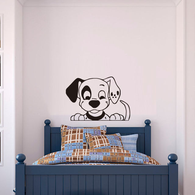 Spotty Dog Nursery Wall Stickers Hot Home Decor Lovely Puppy Pet Art Decal For