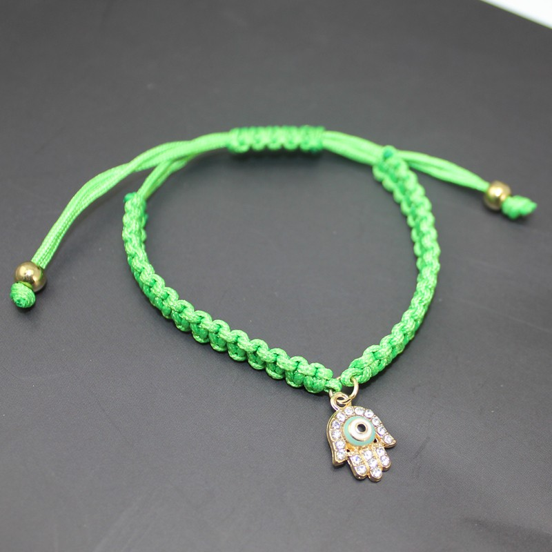 Handmade Braided Rope Bracelets Red Thread Turkish Jewelry Crystal Hamsa Hand Charm Bracelets Bring Lucky Peaceful Bracelets 19