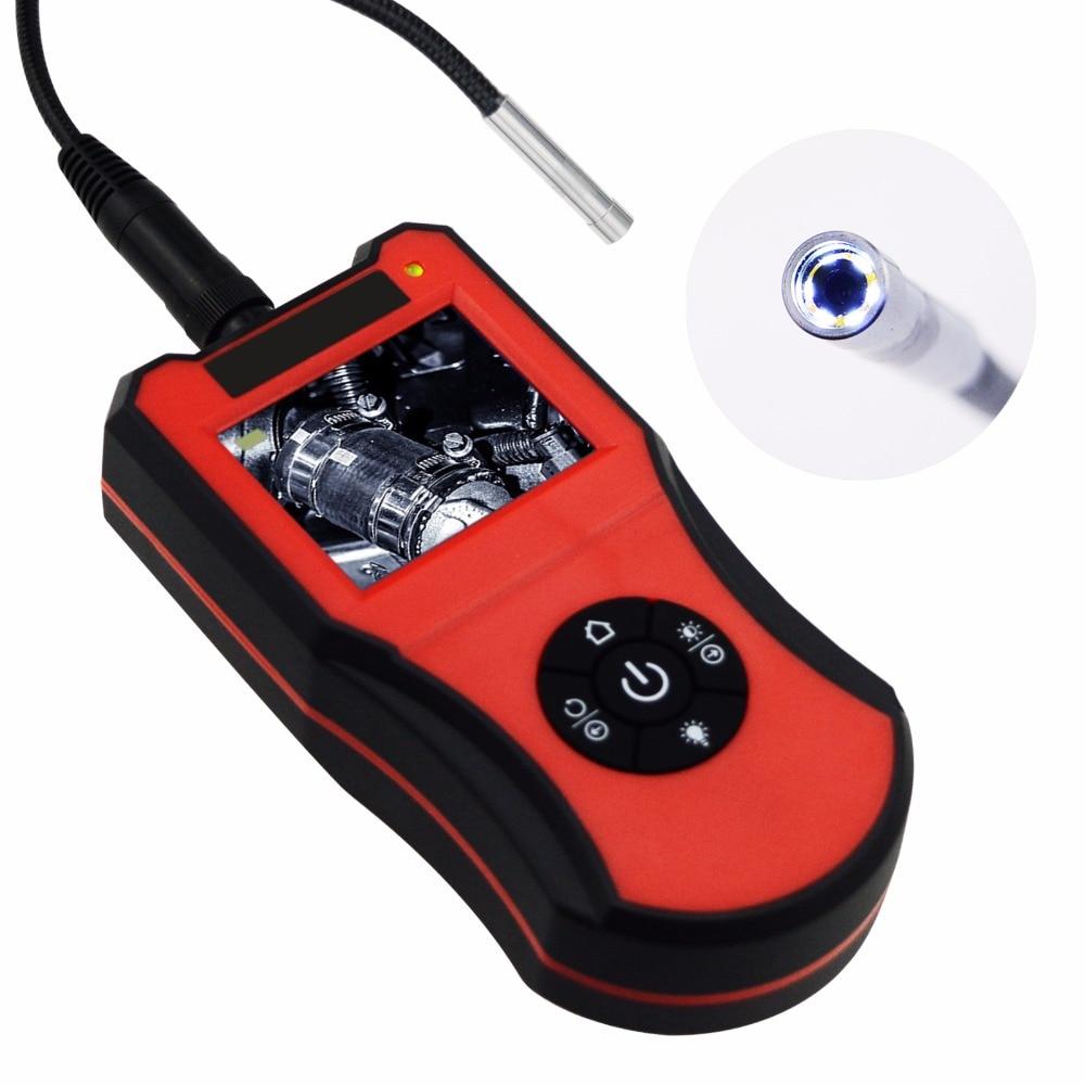 Endoscope Snake Scope Inspection Camera Borescope 2 7 LCD Screen Monitor Portable HD 5 5mm Camera
