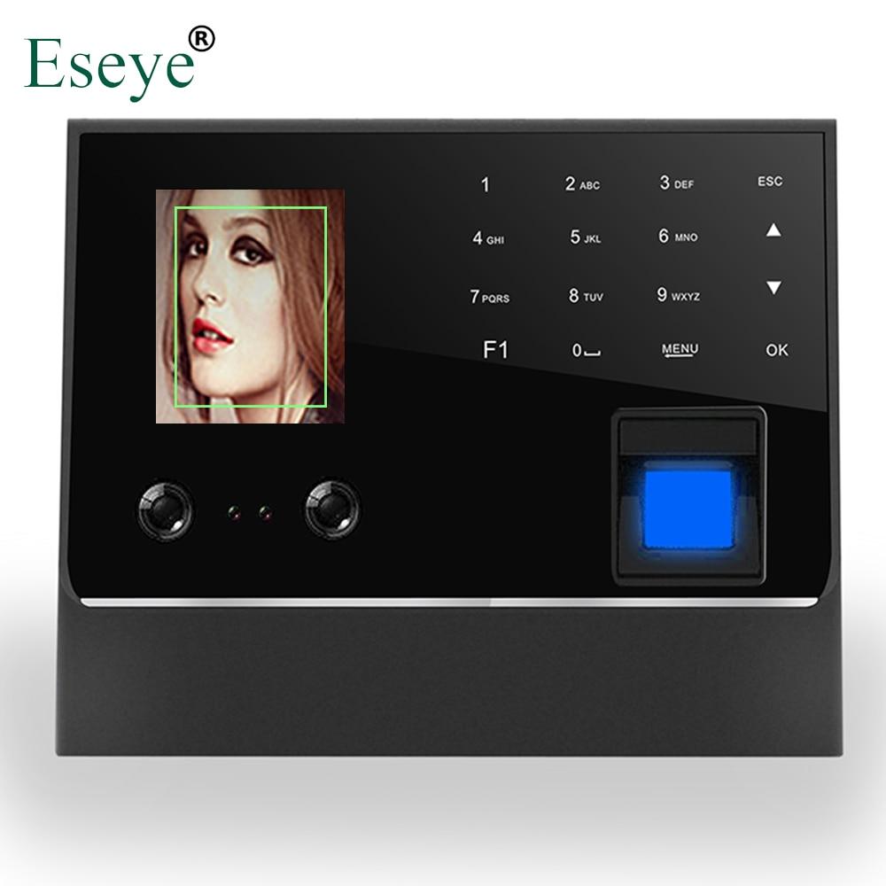 Biometric Face & Fingerprint Time Attendance System Clock Recorder Employee Recognition Digital Electronic Reader Machine TCP/IP