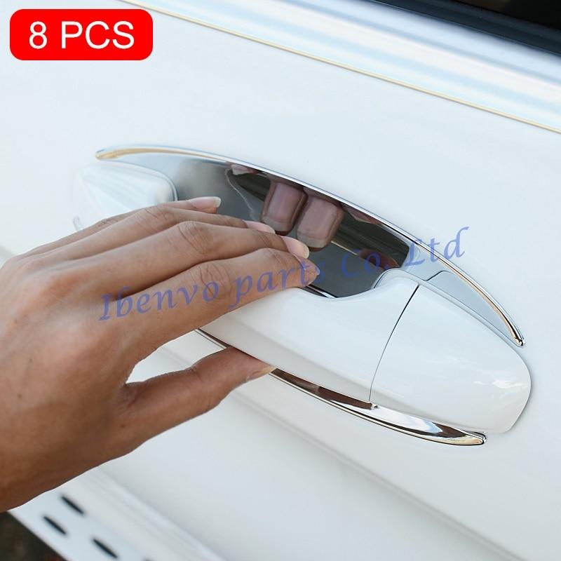 Chrome Door Handle Molding Bowls Trims For Mercedes-Benz GLC C E Class GLE Coupe W205 S205 W213 S213 X253 C253 C292 Accessories