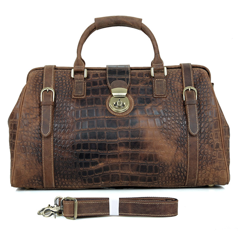 J.M.D Vintage Cow Leather Fashion Design Large Capacity Travel Bag Casual And Durable Duffle Tote For Men 7281B jimmy fashion 7281 3