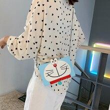 Cartoon Cat Box Casual Small Square Package Fashion Cute Printing Simple Wild Mini Shoulder Messenger Bag