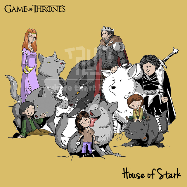 Buy game of thrones stark family cartoon Where can i buy game of thrones t shirts