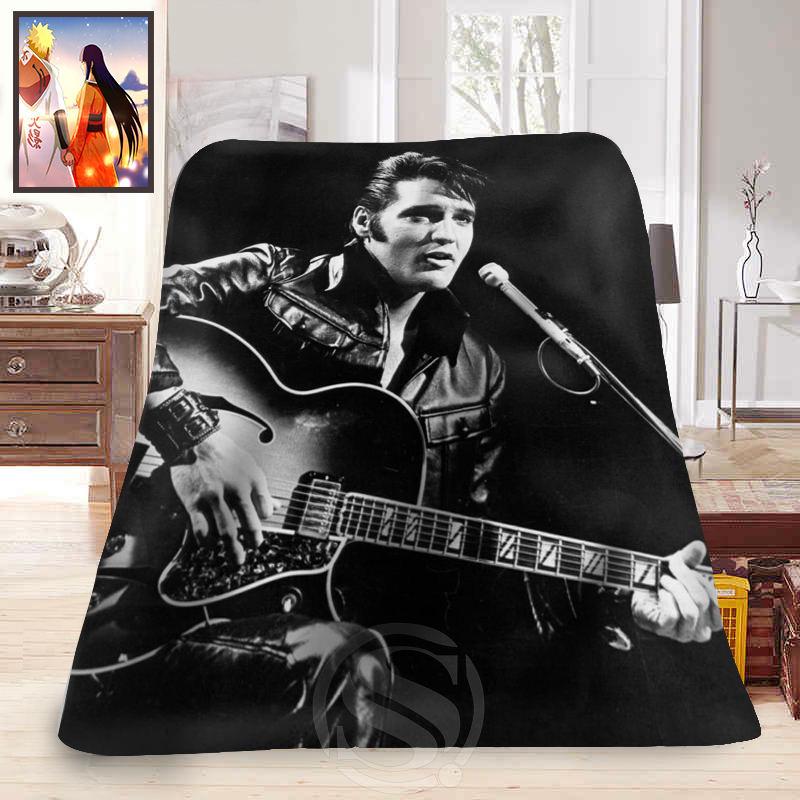 Hot sale Fashion Blanket Elvis Presley Printed Soft Fleece Blanket comfortable Blanket Sofa Blanket hot sale cayler