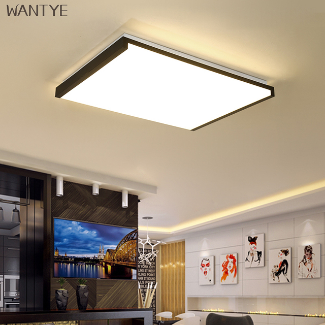 Acrylic Rectangle Ceiling Lights LED Modern with Remote Control ...