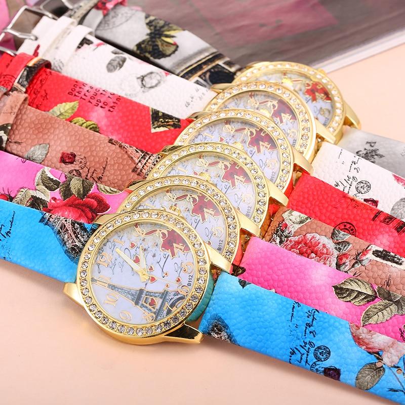 Najlepsza oferta Zegarek kwarcowy Kobiety Moda Wieża wzór Diament - Zegarki damskie - Zdjęcie 6