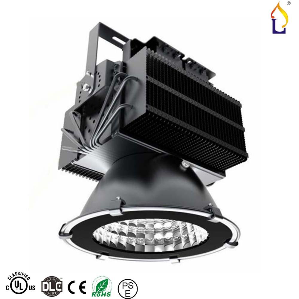 UL DLC چراغ خلیج بالا 300W 400W 480W UL درایور LED چراغ سیل IP67 SMD3030 خنک کننده AC100-277V با 5 سال ضمانت 2 بسته