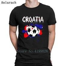 877c530f500 Croatia Soccer Shirt Fan Football Gift Funny Cool T Shirt Summer Pictures Tshirt  Men Round Neck