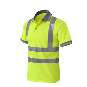 Image 4 - Night Work Reflective Safety Shirt Clothing Quick drying Short sleeved T shirt Protective Clothes for Construction Workwear