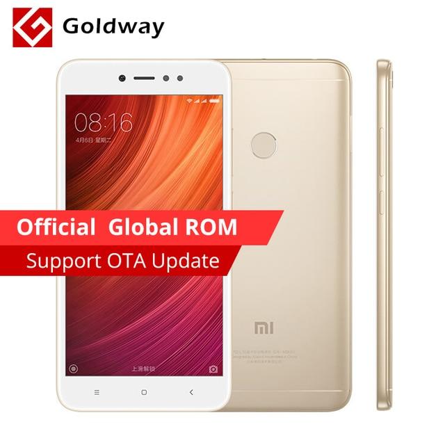 """Оригинальный Xiaomi Redmi Note 5A мобильный телефон 3 ГБ Оперативная память 32 ГБ Встроенная память Snapdragon 435 Octa Core 5.5 """"MIUI 16.0mp Камера отпечатков пальцев"""