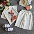 New Baby Девушки Блестки кролика с коротким рукавом Футболки + свободные шорты Досуг Костюм Детей 3 шт. набор оптовая
