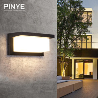 PINYE Waterproof 18W LED Wall Light IP66 Porch Lamp Modern LED Wall Lighting Lamp Courtyard Garden Outdoor Light Lighting PY002