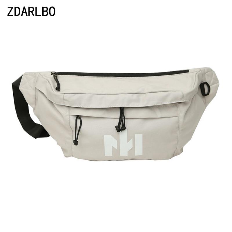 High Capacity Women's Waist Bag Men Hip Hop Belt Bag Female Shoulder Crossbody Chest Bags Banana Fanny Pack Waist Packs