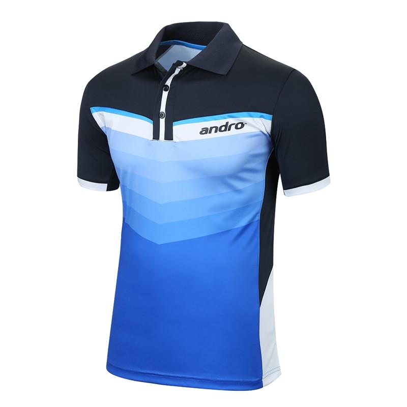 Andro Original Top Quality Table Tennis Jerseys Training T-Shirts Ping Pong Shirts Cloth Sportswear накладка andro hexer hd