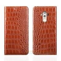Crocodile Grain Genuine Leather Case For ZTE Axon 7 Max C2017 6 0 Luxury Phone Cover