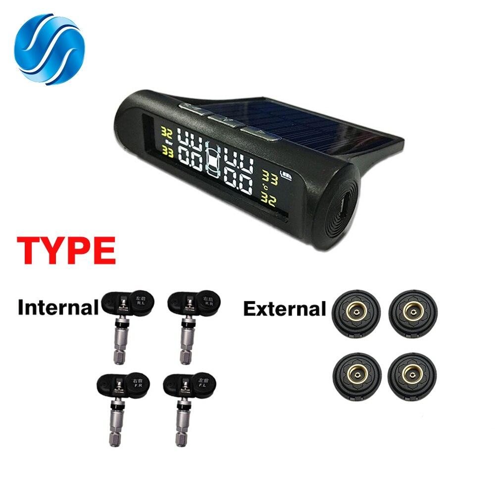SINOVCLE TPMS датчик давления в шинах сигнализация монитор система внутренний/внешний датчик температуры в шинах беспроводной датчик давления-in Системы контроля внутришинного давления from Автомобили и мотоциклы