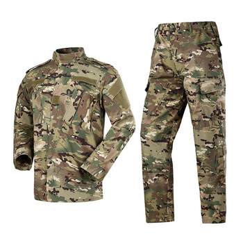 Men Camouflage Uniform Army Equipment Tactical Combat Set Airsoft Suit Pants Jacket Pants Hunting Clothes Pantingball