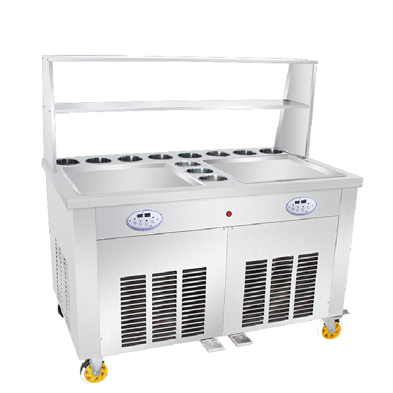 FREE SHIPPING Electric Thailand Fried Ice Machine Ice Cream Rolls Maker Fry Frozen Yogurt Making Machine 110v 220v