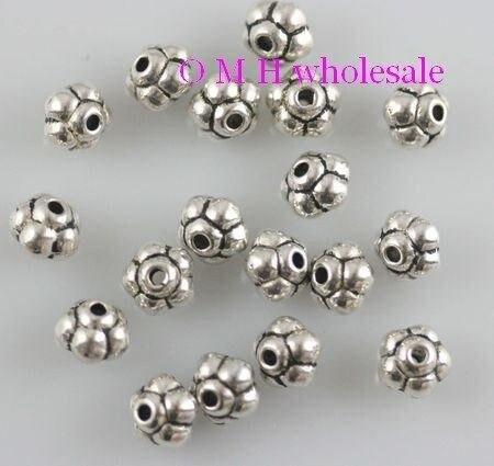 OMH Wholesale Free Ship 35pcs Tibetan Silver Spacer Beads Jewelry Metal Beads 6x5mm ZL188