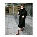 2017 женщин высокого класса осенью и зимой Корейский шерстяные пальто шерстяное пальто длинный участок колени были стройная утолщение