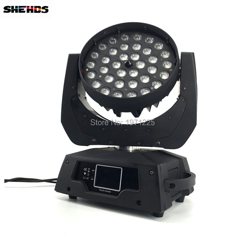 2PCS LED Moving Head Wash Light LED Zoom Wash 36x12W RGBW Color DMX Stage Moving Heads Wash Touch Screen