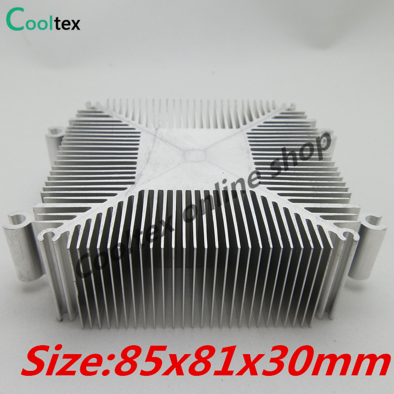 2016 DIY Led Heatsink  Pure Aluminium Heat Sink Radiator For Led Light Cooler Cooling 100% new Recommended ! high power pure copper heatsink 150x80x20mm skiving fin heat sink radiator for electronic chip led cooling cooler