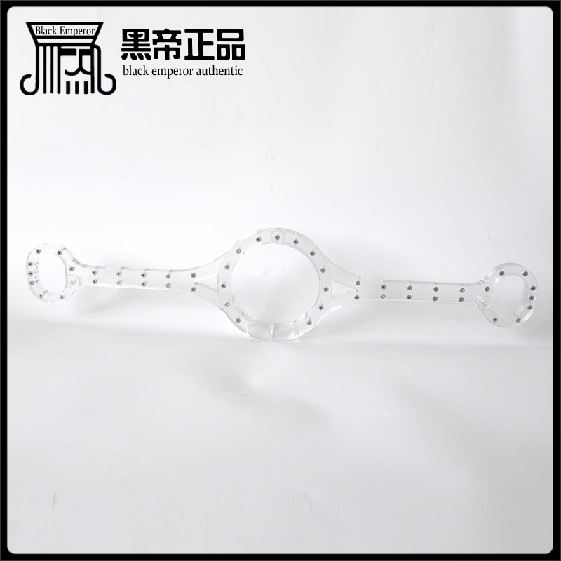 couples flirt bdsm bondage sex games clear crystal transparent siamese neck hand cuffs fetish slave collar handcuffs erotic toys