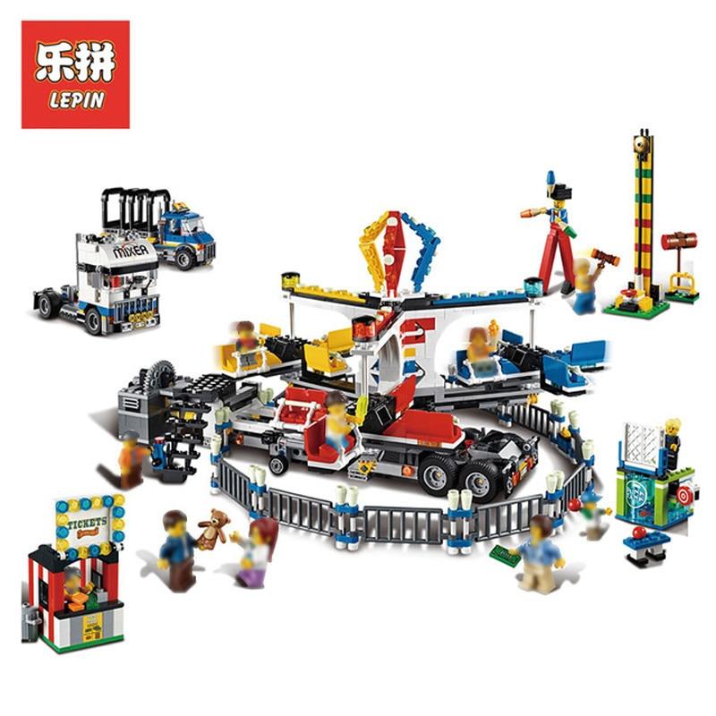 Здесь можно купить  In Stock DHL Lepin Set 15014 1858Pcs City Street Figures Fairground Mixer Model Building Kit Blocks Bricks Educational Toy 10244  Игрушки и Хобби