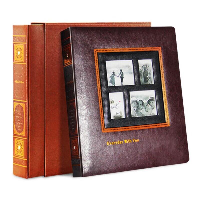 Album Photo Scrapbook PU cuir Albums couverture Interleaf Type mariage photos Album grand Volume rétro photographie bébé Albums