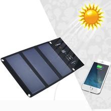 5V 21W Sunpower Solar charger Foldable Solar Charger Outdoor Portable Solar Panel Charger for iphone Mobile