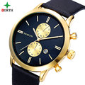 NORTH Quartz Watches  Men 30M Waterproof Male Wristwatch Fashion Casual Genuine Leather Strap 2016 Luxury Men Watch Bussiness