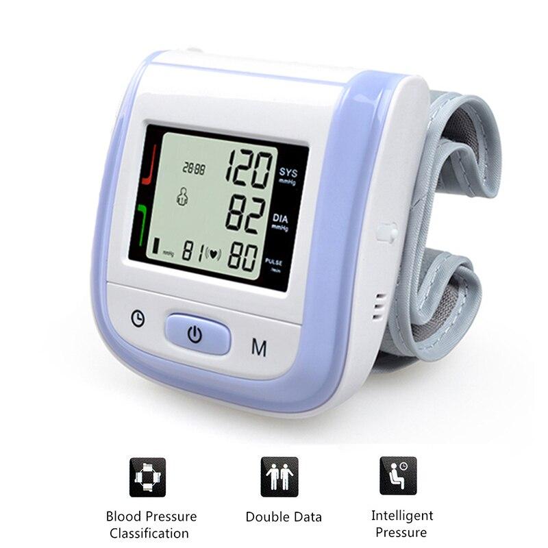 здоровье и гигиена автоматические наручные приборы для измерения артериального давления мониторы цифровой жк-дисплей наручные манжеты приборы для измерения артериального давления метр тонометр esfingomanometro